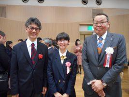 祝 金賞・トンボ学生服賞 受賞 美術部3年 渡邊京子さん
