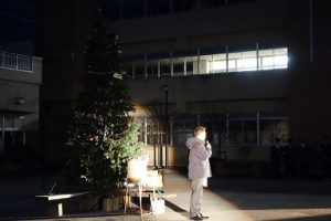 クリスマスツリー点灯式が行われました