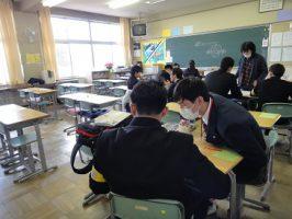 小・中・高の連携 吉田高校の教育ボランティアの様子です
