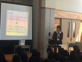 第2学年志望理由書サポート講座全体講演会が行われました