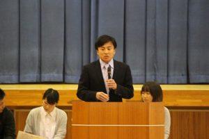 平成29年度 第1学年 先輩の話を聞く会が行われました
