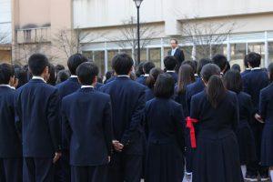 平成30年度校歌応援歌指導 最終日の様子です