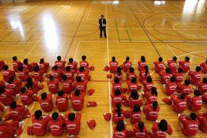 平成30年度第1学年集団行動・行進発表会が行われました
