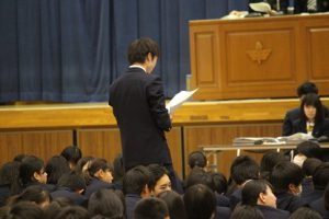 平成30年度前期生徒総会が行われました