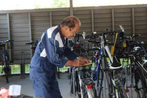 自転車点検が行われました