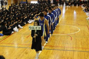 平成30年度山梨県高等学校総合体育大会壮行会が行われました