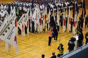 平成30年度第70回山梨県高等学校総合体育大会が始まりました