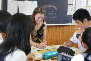 アメリカ合衆国ケネディーハイスクールよりDan先生と7名の生徒が来校しています