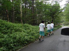 富士登山強歩大会昨年度の様子です