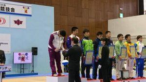 祝 優勝 福井しあわせ元気国体 ウエイトリフティング競技少年男子85kg級 持田慶貴くん