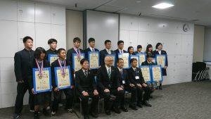 福井国体(少年)優勝報告会の様子です
