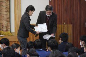 大学入試センター試験激励会が行われました