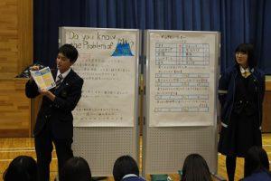 平成30年度2学年総合的な学習の時間「富士山学」研究発表会が行われました