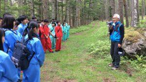 令和元年度 吉田高校学校林下草刈りが行われました