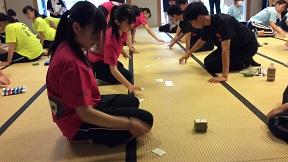 小倉百人一首競技かるた 第41回全国高等学校選手権大会の様子です